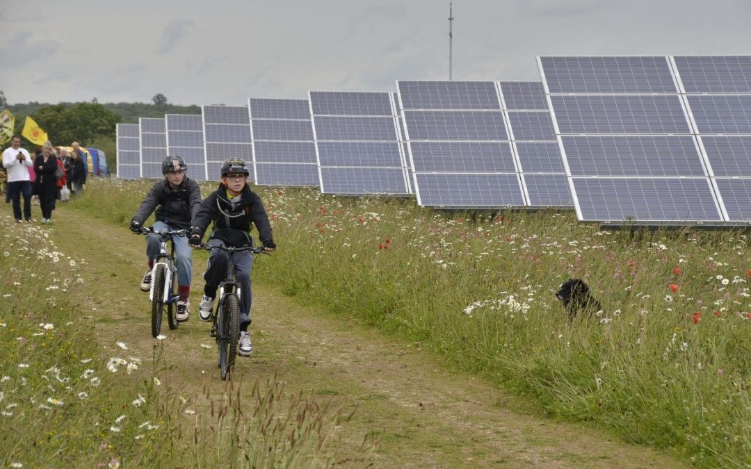 Kids on bikes and solar